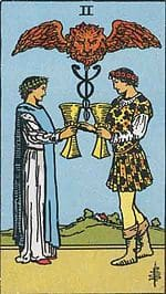 tarot cards for love two of cups