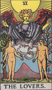 The Lovers Tarot Card in a Soulmate Reading