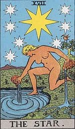 tarot cards for love the star