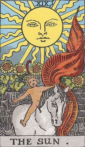 tarot card the sun soulmates