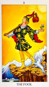 The Fool Tarot Card in a Soulmate Tarot Reading